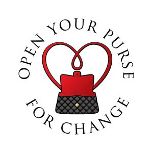Open your purse for change logo