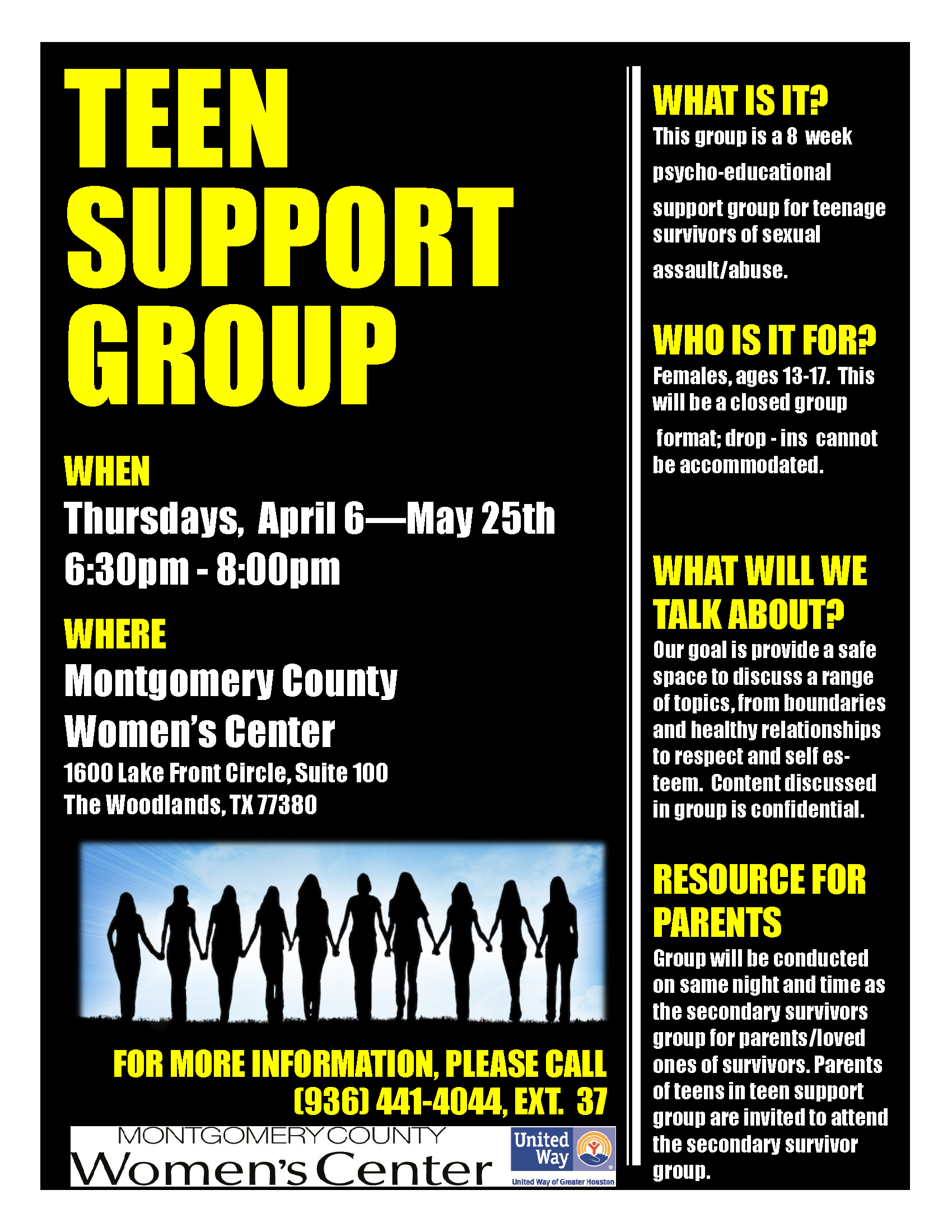 Teen Group Flyer