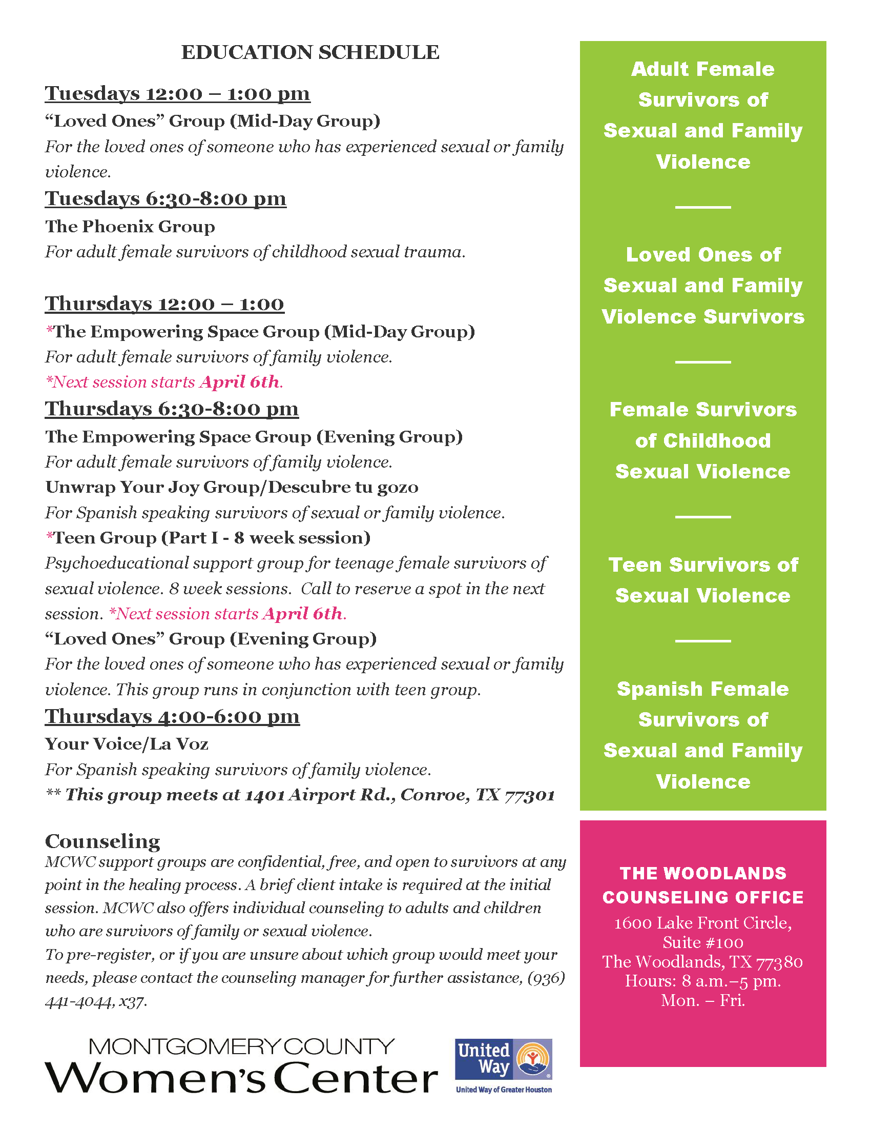 Group Counseling Flyer