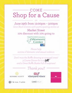 Shop for a cause flyer