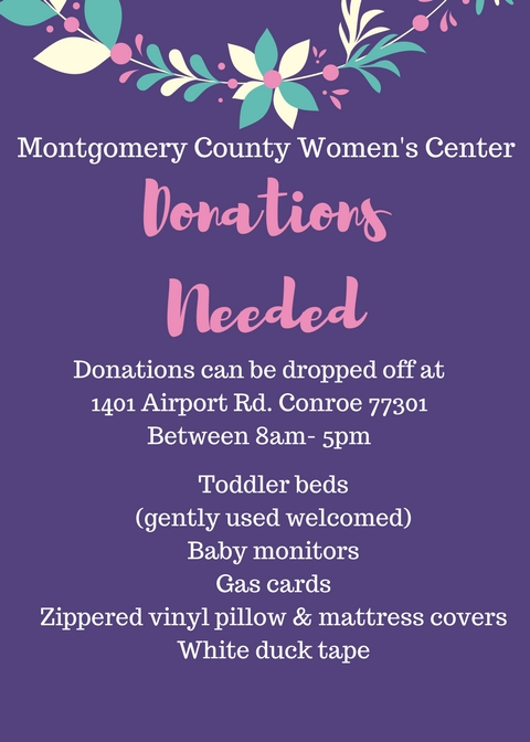 Flyer for donations needed