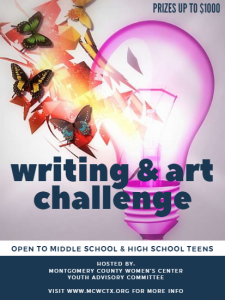 Flyer for Writing and art challenge