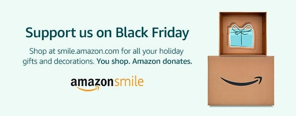 Amazon Smile Image Click to Support the Women's Center when you shop on Black Friday