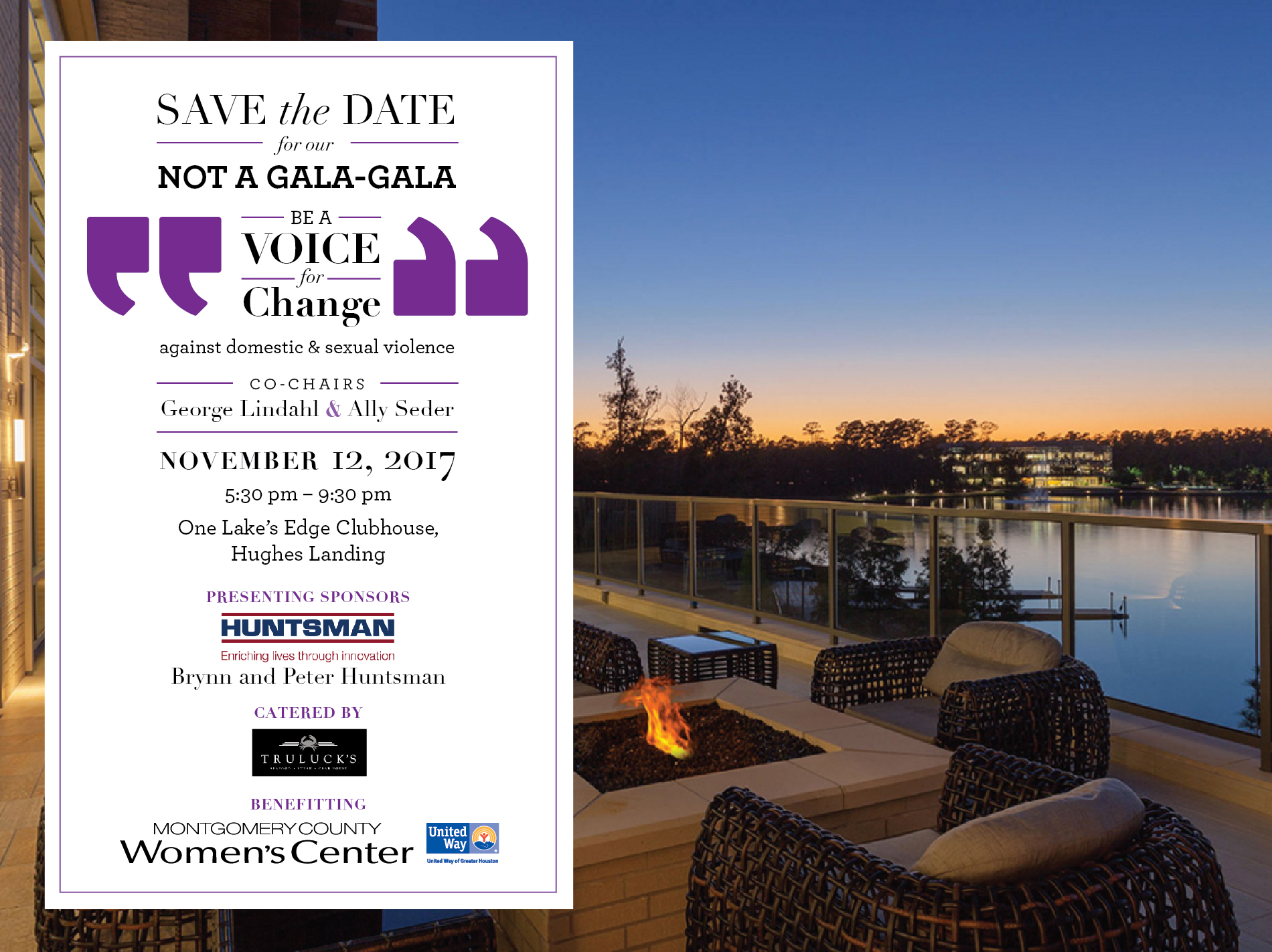 Flyer for the Montomgery County Women's Center Not a Gala-Gala