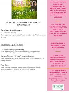 Spring Group Counseling Flyer